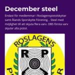 Inbjudan Vintersteel 14 December  2019 &  12 Januari 2020